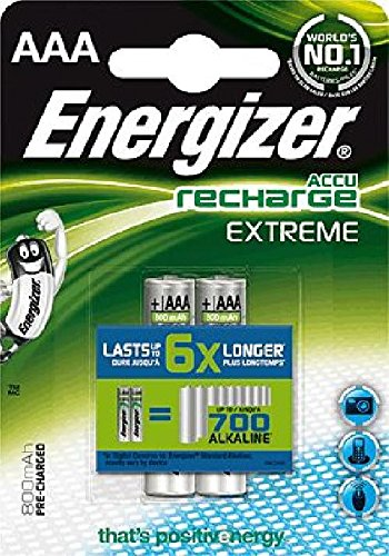 Energizer Akkus Extreme/ 635000, 800 mAh Micro AAA HR03 Inh. 2 Energizer Nickel-metal