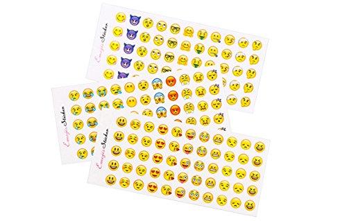12 Blätter der nette Emoji Aufkleber Kinder Spielzeug verschiedener populärer Emoticons gelten zu, Preis, Geschenke (Niedliche Halloween Hausgemachte Dekoration)
