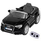vidaXL Audi A3 Elektro Kinderauto Elektroauto Kinderfahrzeug mit Fernbedienung Schawrz