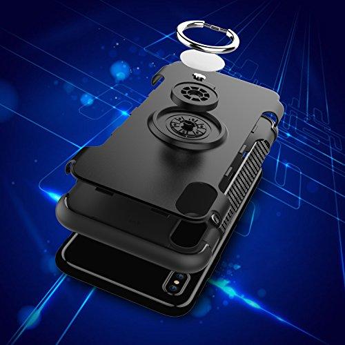 Kadcope Copertura del telefono cellulare per iPhone X, SoftFlex Custodia protettiva sottile per la copertura Apple iPhone X / iPhone X Rose-A