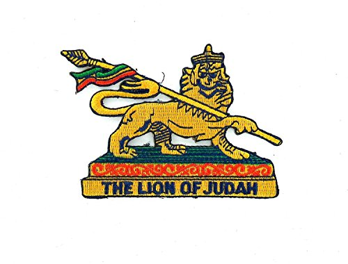 Patch, gestickt, zum Aufbügeln, Äthiopien-Löwe (äthiopien Patch)