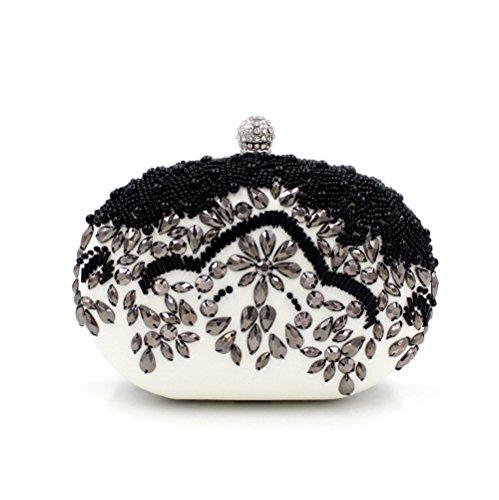 Chirrupy Chief® Borse per Donne cristallo sera frizione borse Black&White