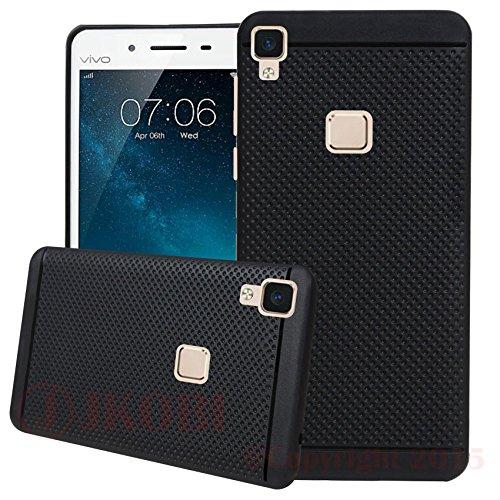 Jkobi 360* Protection Premium Dotted Designed Soft Rubberised Back Case Cover For Vivo V3 -Black