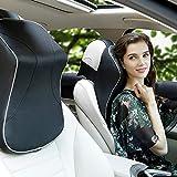 FancyU Auto Kopfstütze Kissen mit Memory Foam Nackenstütze Nackenkissen Waschbar für Reise/Büro / Home/Auto (Schwarz)