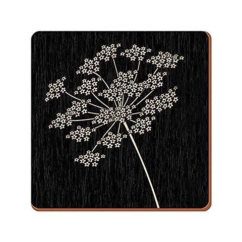 Creative Tops Silhouette Premium Cork-Backed Coasters, Wood, Black, 6-Piece