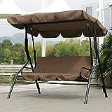 Jimfoty Swing Seat Cushion, Waterproof Outdoor Seat Cushions for Chairs Swing Hammock Seat Cushion Pad for Courtyard Garden(Brown)