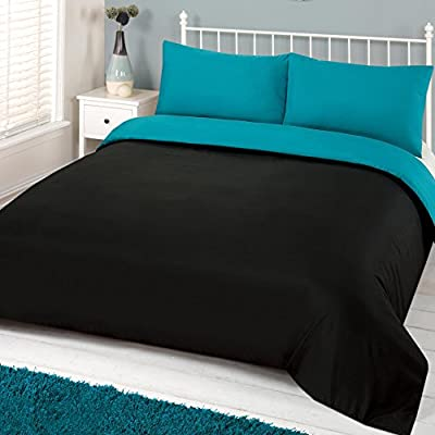 Dreamscene Bedding Half Set, Microfibre Soft Touch, Teal, Double - low-cost UK light shop.