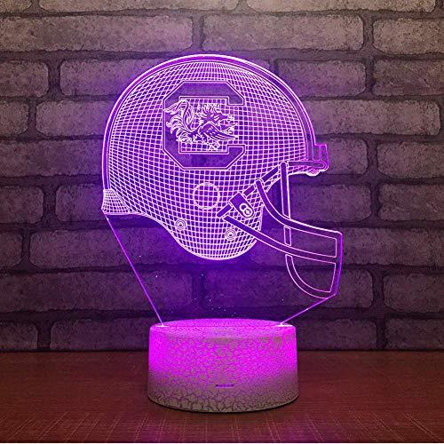 Rugby Hut Bunte 3D Nachtlicht Atmosphäre Usb Benutzerdefinierte Geschenk 3D Lampe Weißer Sockel Schöne 7 Farbwechsel 3D Licht - 128 Rugby