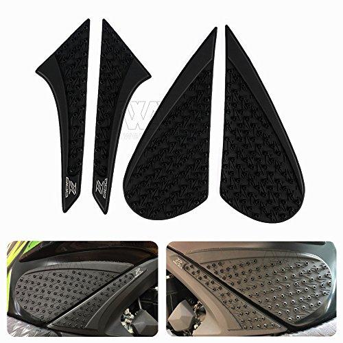 nawenson New Style Rutschfeste Aufkleber 3M Motorrad Tank Traction Pad Seite Knie Grip Displayschutzfolie für Kawasaki Z8002013–2015