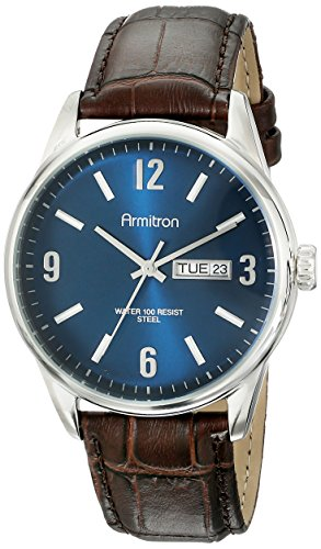 armitron-mens-20-5048nvsvbn-day-date-function-brown-croco-grain-leather-strap-watch