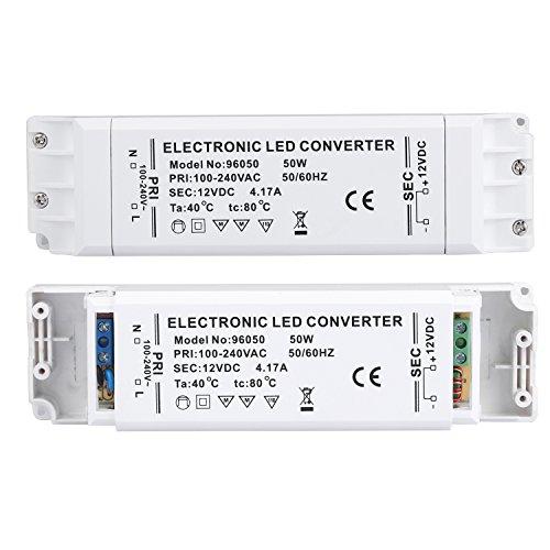 Preisvergleich Produktbild Liqoo® LED Trafo 12V DC 50W 4,17A EMC Netzteil Treiber 100V - 240V Transformator ohne Mindestlast für G4 MR16 MR11 Stripe Überlastungsschutz Temperatursicherung 0,5 - 50 Watt