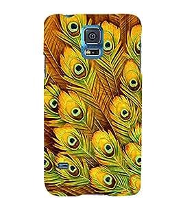 PrintVisa Kishna Mor Pankh 3D Hard Polycarbonate Designer Back Case Cover for Samsung Galaxy S5 mini :: Samsung Galaxy S5 mini Duos :: Samsung Galaxy S5 mini Duos G80 0H/DS :: Samsung Galaxy S5 mini G800F G800A G800HQ G800H G800M G800R4 G800Y