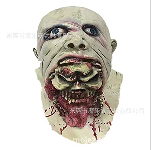 ting Face Adult Latex Kostüm Walking Dead Head und Neck Horror Mask ()
