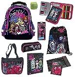 Familando Monster High Schulrucksack Set 12tlg. Federmappe gefüllt Schulranzen PL