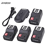 #3: Andoer 16 Channel Wireless Remote Flash Trigger Set 1 Transmitter + 4 Receivers + 1 Sync Cord for Canon Nikon Pentax Olympus Sigma Sunpak Vivitar Neewer YOUNGNUO Speedlite