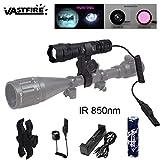 Linterna infrarroja LED con lente de linterna, enfoque ajustable con zoom, OSRAM IR 850 linterna de visión nocturna con luz infrarroja, se utiliza con dispositivos de caza de visión nocturna, VASTFIRE