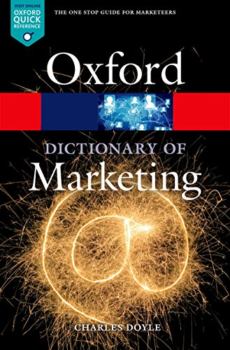 A Dictionary of Marketing (Oxford Quick Reference) (English Edition)