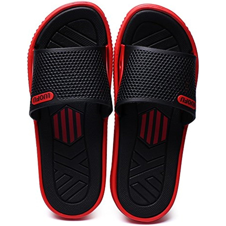 HongjunChaussure s Homme Slippes, DE DE DE Piscine pour Homme Diapositives Chaussures Talon Plat Chaussons jusqu'à Taille... - B07GNDRXYS - 3df758
