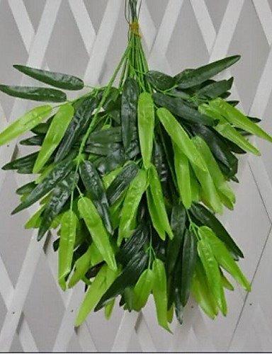 Alta calidad de poliéster de bambú plantas Flores artificiales(1PC)