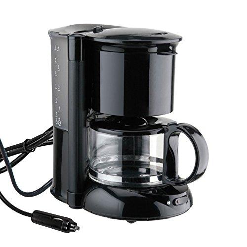 Camp4 Kaffeemaschine 12 Volt, 170W, 600ml, schwarz für Camping, Auto, Boot (Kaffeemaschine 12 Aroma Tasse)