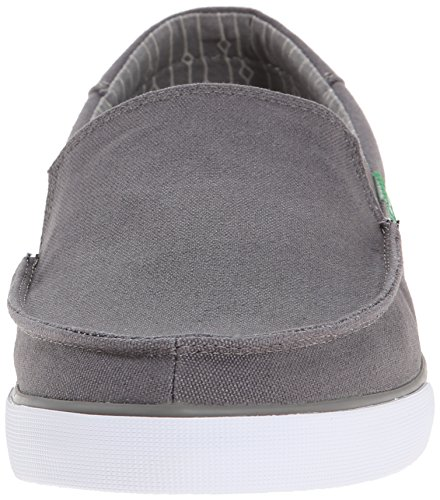 Sanuk Mens Sideline Slip On Charcoal