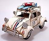 Auto aus Metall creme mit Rahmen und Spardose 19 cm PKW Oldtimer Nostalgie Käfer