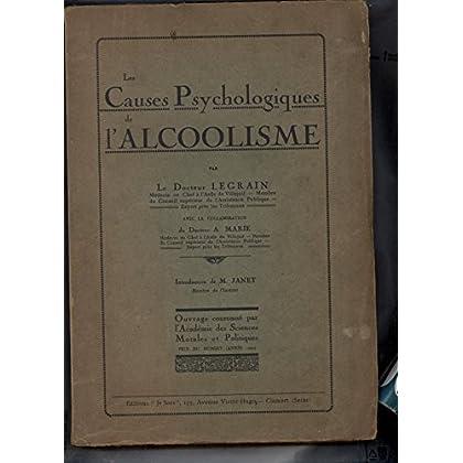 Les causes psychologiques de l'alcoolisme.