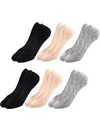 LITTHING Invisibles Cortos Calcetines Deportivos de algodón Desodorante Transpirable Antideslizante Medio Tamaño 35-38 Mujer