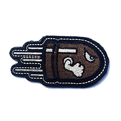 Pallottola di volo arrabbiato tattico militare,toppe del distintivo per la borsa del cappello dei vestiti