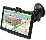 GPS Navigation 7 Inches 8GB for Car Truck Lorry GPS Windows SAT NAV Satellite Navigation System Touchscreen Navigator with HD SpeedCam POI MP3 Lifetime UK EU Maps (Upgraded Version)