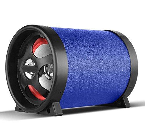QXXZ 12V 220V 100W Auto Subwoofer Bluetooth Bass Audio Speaker Für Auto/Motorrad/Home/Computer-Nutzung,Blue Home-audio-subwoofer