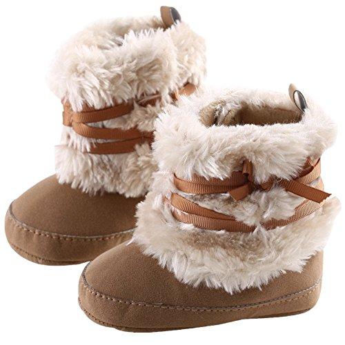 L-Peach Babyschuhe Mädchen Neugeboren Lauflernschuhe Baby Schneestiefel Weich Sohle Winter Warme Winterschuhe Boots für Kinder Baby 0-18 - Peach-18 Prinzessin