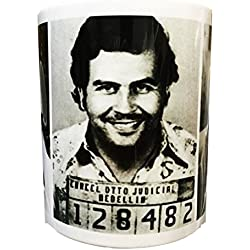 HIRAM Skynet - Taza con imagen de Pablo Escobar, El Patrón, de la serie Narcos