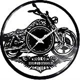 Fusorario Orologio in Vinile da Parete LP 33 Giri Silenzioso Idea Regalo A Tema Harley Vip
