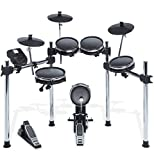 Alesis Command Mesh Kit 8 Teile E-Drum Kit mit Mesh Heads, Chrom Rack und Command Drum Modul inklusiv 70 Kits, 600+ Sounds, Play-Along Tracks, Einladen eigener Samples und USB/MIDI Konnektivität