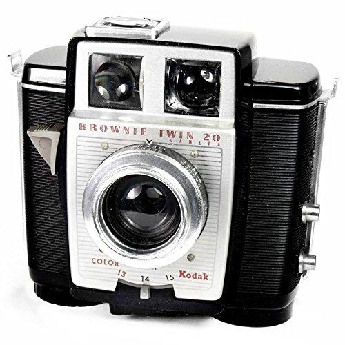 Kodak Brownie Twin 20-Vintage 1950's Art Deco 620 Film Kamera (1950 Filme)