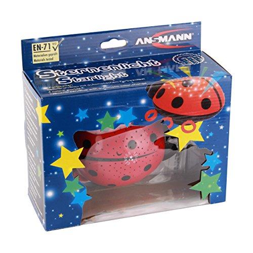 ANSMANN Sternenlicht Marienkäfer LED Sternenhimmel-Projektor Nachtlicht Lampe Einschlafhilfe für Baby/Kinder/Erwachsene – Testsieger (Vergleich.org 03/2017) - 11