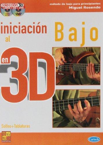 Iniciación al bajo en 3D - 1 Libro + 1 CD + 1 DVD por Miguel Rosendo