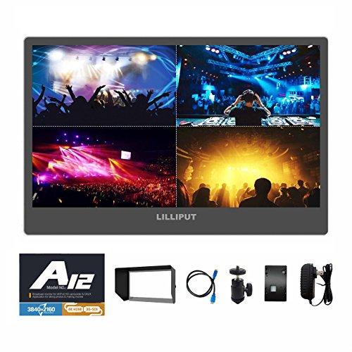 Lilliput A12 12.5' 3840x2160 4K HDMI Display-port 3G SDI Broadcast DSLR Kamera FELD-Monitor for SONY FS5 FS7 F5 F55 RED SCARLET-W WEAPON RAVEN EPIC-W ARRI ALEXA Mini Canon C200 C300 II DJI Ronin