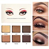 OYOTRIC Nude Shimmer Matte Smoky Eyeshadow Palette Eye Effect Neutral Nude/White Highlight/Brown/Black/Chocolate