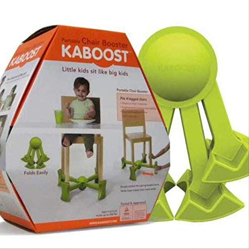 Kaboost Portable Chair Boosters Traveling Seat Portable For Child Lift Under Fits Most Chairs Adjustable Non Slip Green Mit Box -