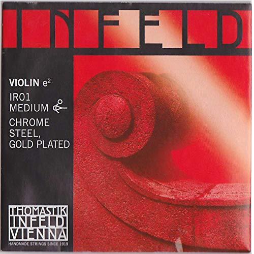 Thomastik Saiten für Violine Infeld Hybridkern - E Chrst./Gold - Infeld Rot Violine E-saite