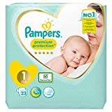 Pampers Premium Protection Größe 1, 2-5kg, 23 Windeln