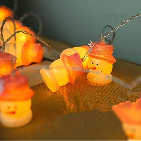 MJEL Stringa di LED luci lampeggianti sul Natale festa decorazione della lampada stringa decorativi di camera da letto , 3 meter 20 lamp plug in - Camera Pull String