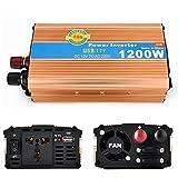 WYJD Inverter @ Invertitore di potere 1200W con inverter dell'automobile USB 12V a 220V cinghia adattatore per accendisigari a due trasformatori , 24v to 110v/1200w