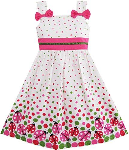 (Mädchen Kleid Fehler Drucken Bunt Punkt Gr.110)