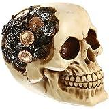 Baoblaze 3D Esqueleto de Resina Gótico de Halloween Ornamento de Fiesta de Disfraces Mascarada - Beige