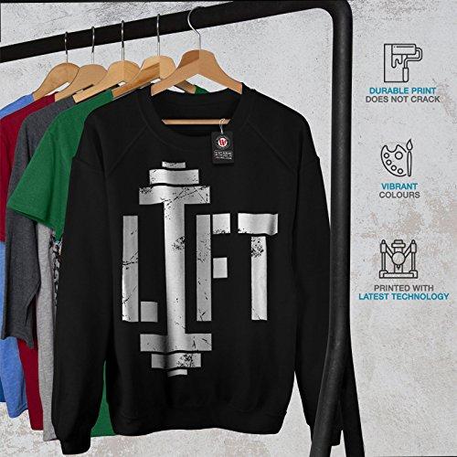Musculation Ventilateur Femme S-2XL Sweat-shirt | Wellcoda Noir