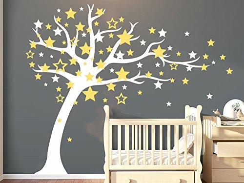 BDECOLL Wandsticker Motiv Baum Mit Star | Wandaufkleber, Wandtattoo,  Wanddekoration, Wand Deko