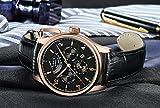 PARNIS Complication 2119 Automatik Herrenuhr Edelstahl-Armbanduhr Lederarmband MIYOTA Schnellschwinger Kaliber 9100 mit Vollkalender und Gangreserve-Anzeige - 4